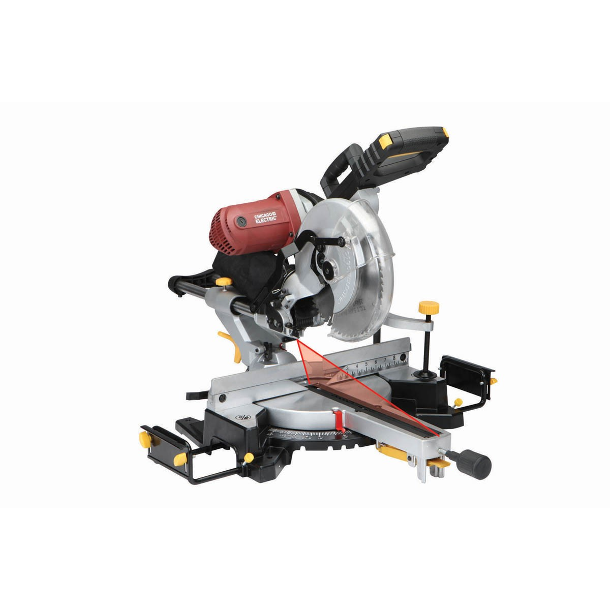 Chicago Electric Power Tools 12 In. Double-Bevel Sliding Compound Miter Saw With Laser Guide System