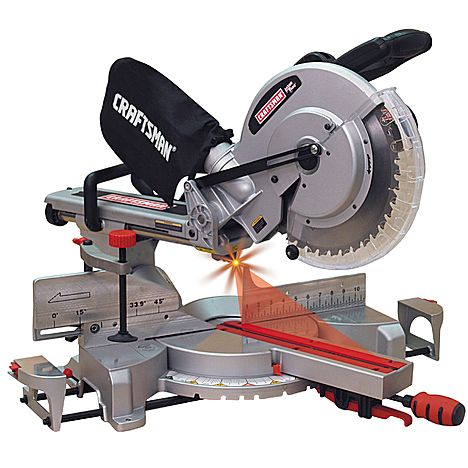 "Craftsman 12"" Single Bevel Sliding Compound Miter Saw Model #21239"