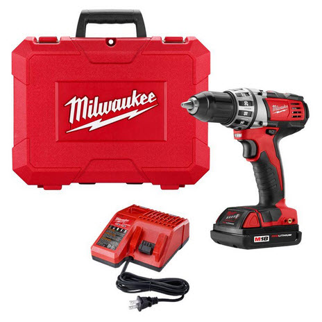 Milwaukee M18 18V Cordless 1/2 In Compact Drill Driver Kit